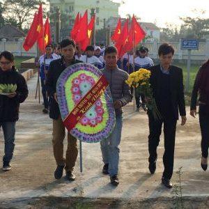 Hoạt động tình nguyện huyện đoàn trường THPT Quang Trung