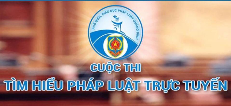 Cuộc thi tìm hiểu pháp luật trực tuyến trên địa bàn tỉnh Quảng Bình năm 2020